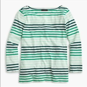 J Crew Boat Neck Stripped Top